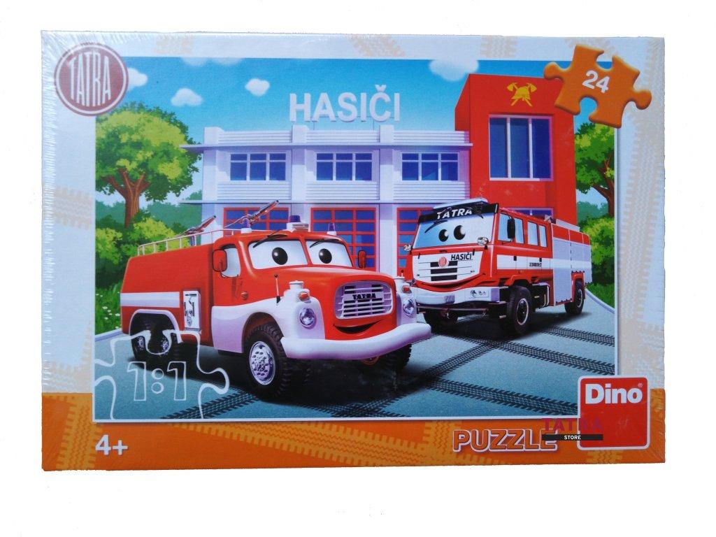 Puzzle hasič DINO 24 dílků / Puzzle Firefighters 24 pcs