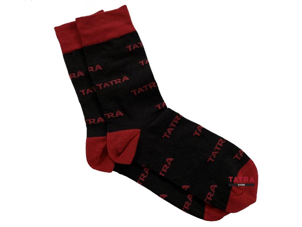 Ponožky pánské - černé s logem TATRA