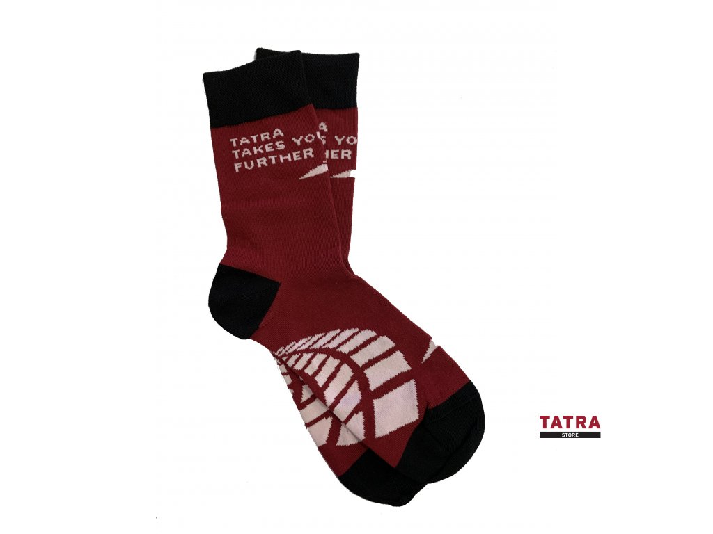 Ponožky pánské - červené TATRA TAKES YOU FURTHER