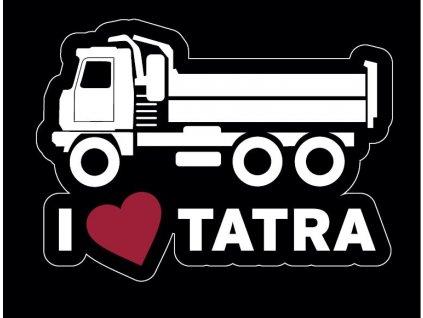 Samolepka - Miluji Tatru s motivem TATRA 815