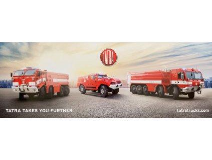 PLAKÁT HASIČSKÉ SPECIÁLY - TROJICE / Poster Firefighting Trucks