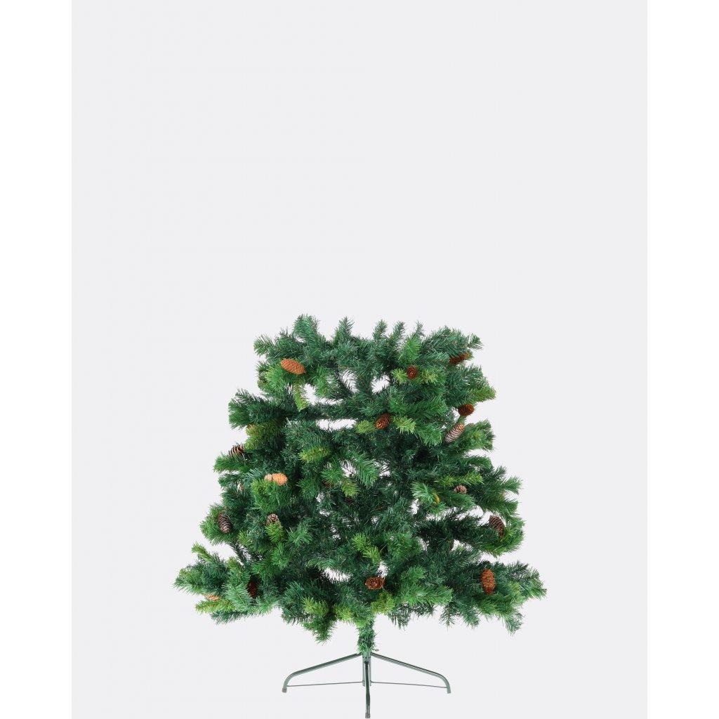 231 umely vianocny stromcek 2d smrek karpatsky so siskami 180 cm