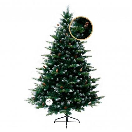 162 umely vianocny stromcek 3d borovica strieborna 210 cm