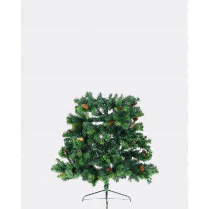 234 umely vianocny stromcek 2d smrek karpatsky so siskami 210 cm