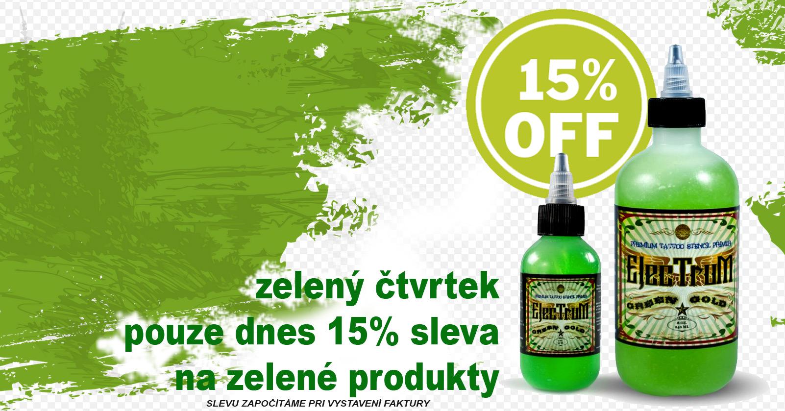 Zelený čtvrtek se slevou 15%