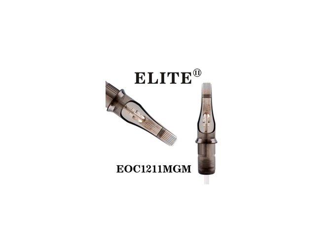 EOC1211MGM - plochý stínovač 11 jehlový, Elite cartridge s membránou