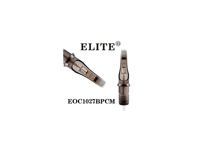 EOC1027BPCM - zakř.plochý stínovač 27 jehlový, Elite cartridge s membránou