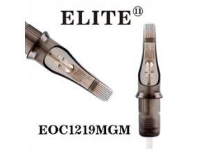 EOC1219MGM - plochý stínovač 19 jehlový, Elite cartridge s membránou
