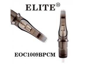 EOC1009BPCM - zakř.plochý stínovač 9 jehlový, Elite cartridge s membránou