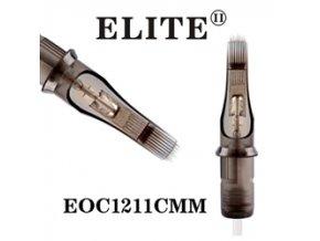 EOC1211CMM - zakř.plochý stínovač 11 jehlový, Elite cartridge s membránou