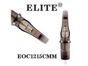 EOC1215CMM - zakř.plochý stínovač 15 jehlový, Elite cartridge s membránou