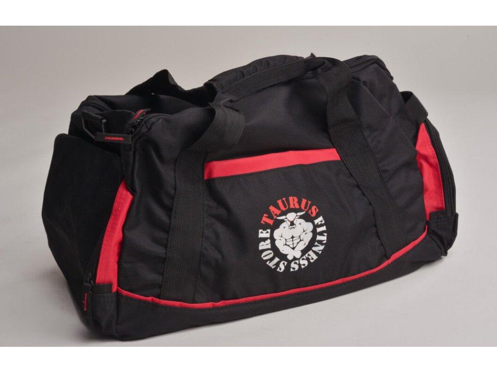 TAURUS Sportovní taška černo červená