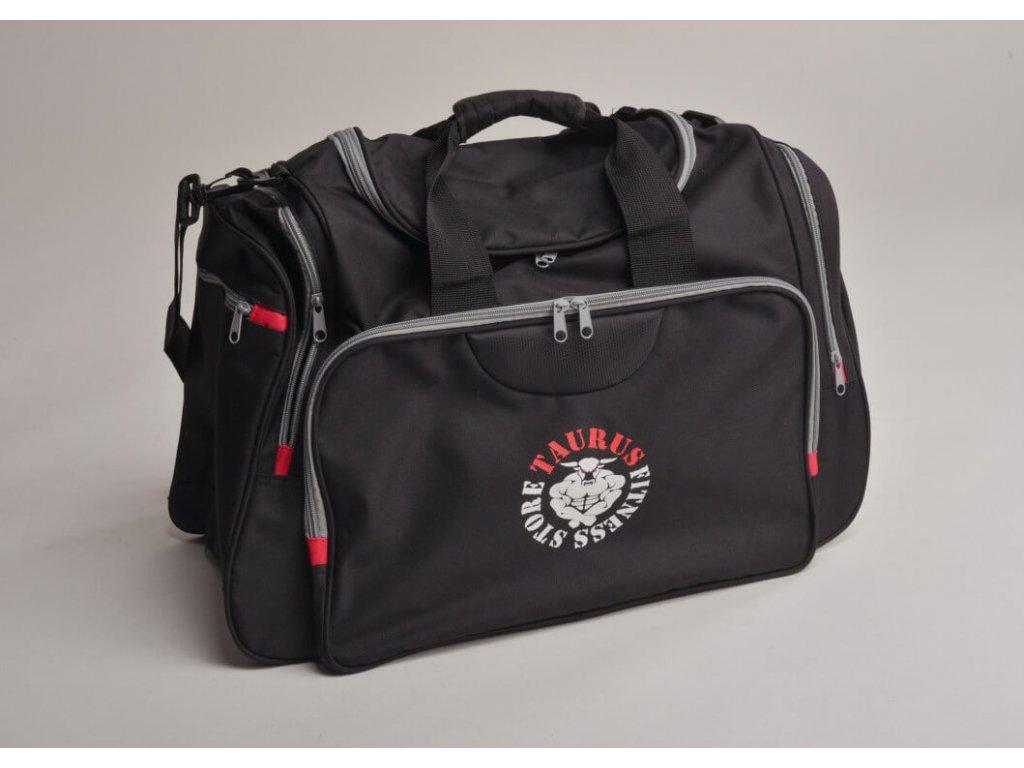 TAURUS Sportovní taška černo šedá