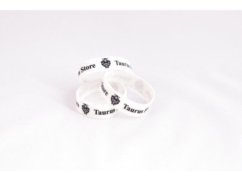 TAURUS Silikonový náramek bílý
