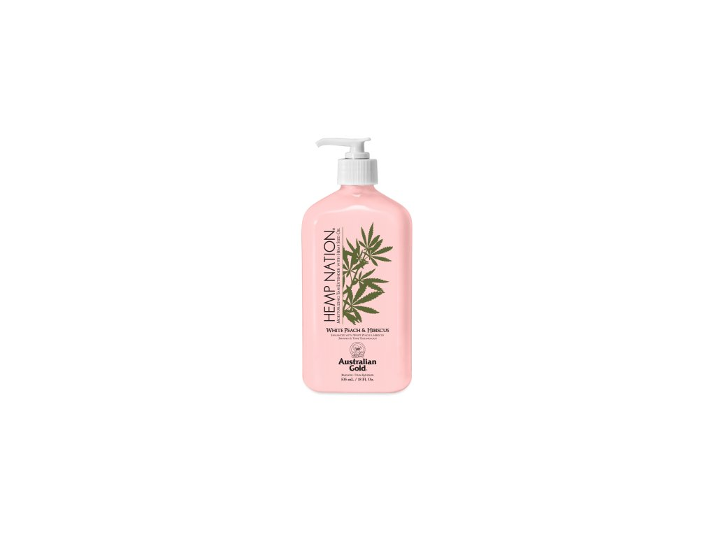 australian gold hemp nation white peach hibiscus body lotion 535 ml akce 10958