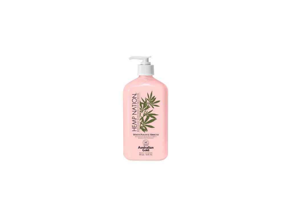 australian gold hemp nation white peach hibiscus body lotion 535 ml akce 10958