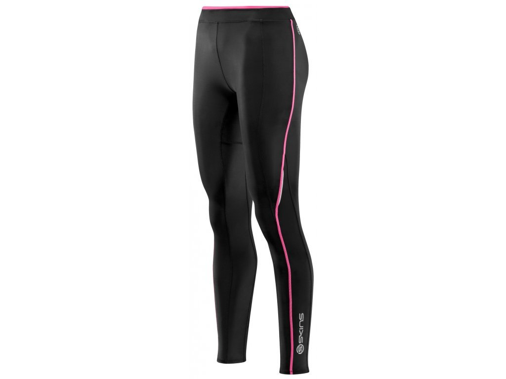 1244 kalhoty skins bio a200 womens black pink long tights velikost fxs
