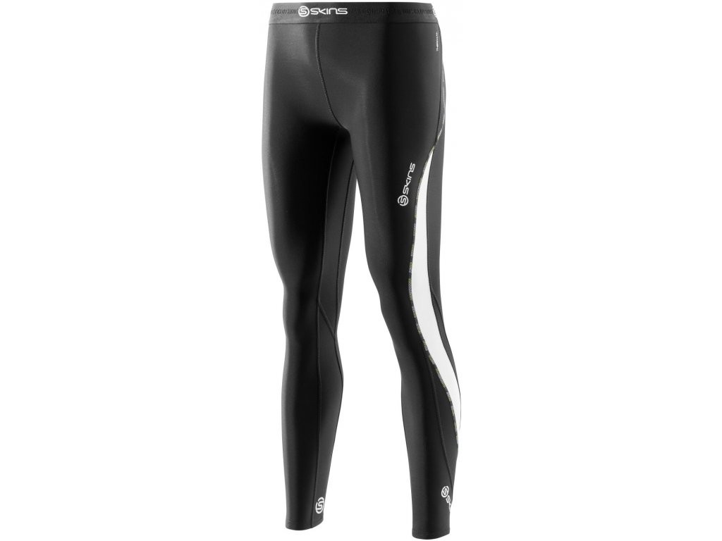 skins dnamic thermal womens compression long tights black cloud