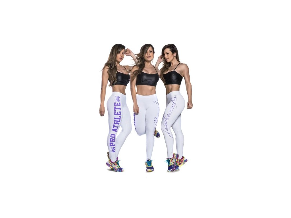 LaBellaMafia Legging Pro Athlete white purple 500