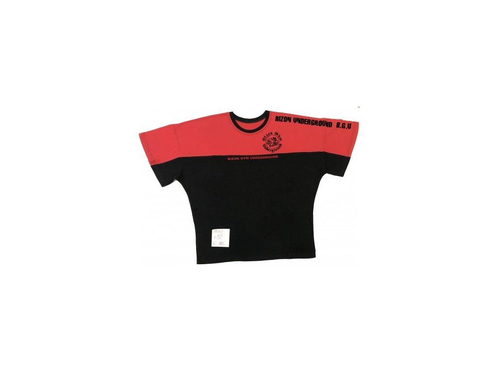 cervenocerne triko velikost xxl