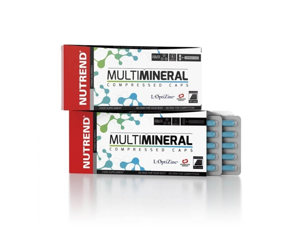 NUTREND Multimineral compressed caps 120 kapslí