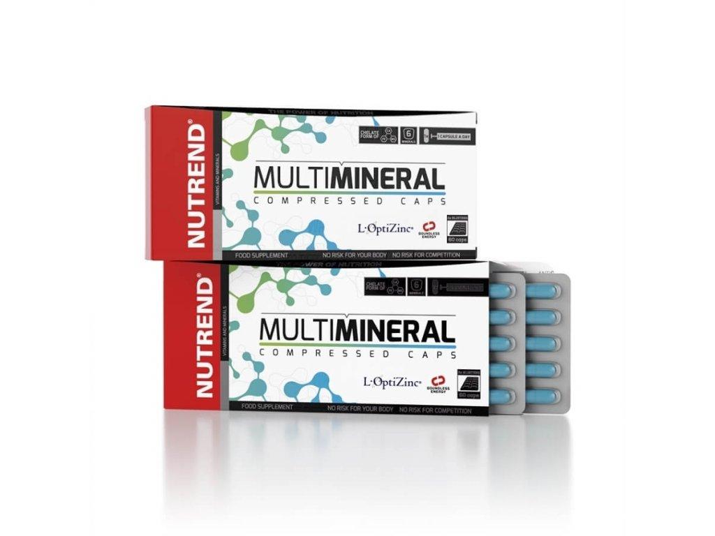 NUTREND Multimineral compressed caps 120 kapslí