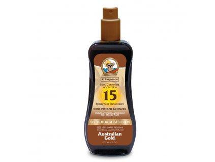 Australian Gold SPF 15 spray gel with bronzer