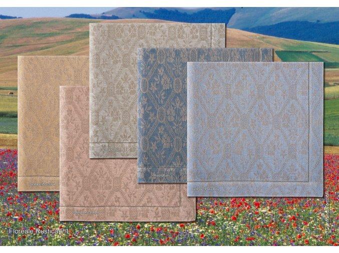 Floreale Rustica II - ubrus lněný skladem
