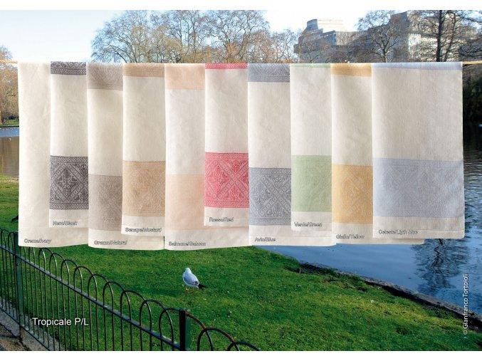 Tropicale - ručník lněný skladem