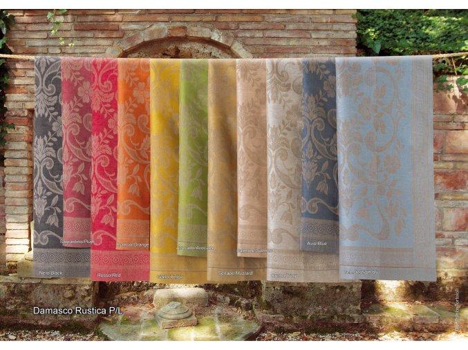 lněné ručníky Damasco