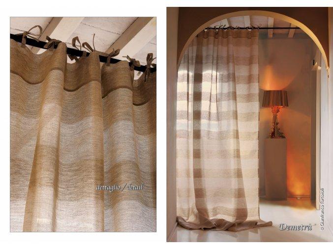 lněná záclona