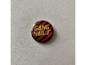 Gangnails button red stripes
