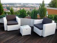 Zahradní nábytek Nünning v soukromém bytě na terase