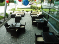 Zahradní nábytek Nünning v hotelu Mariott na Praze 3