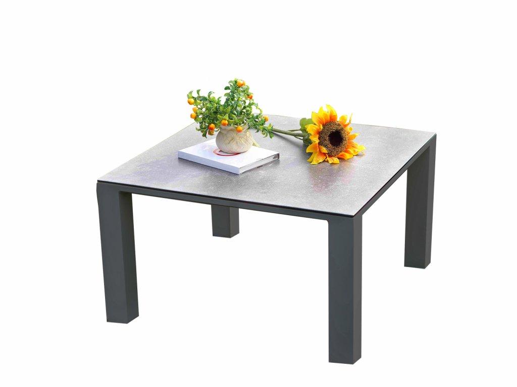 Zahradní hliníkový stolek šedý
