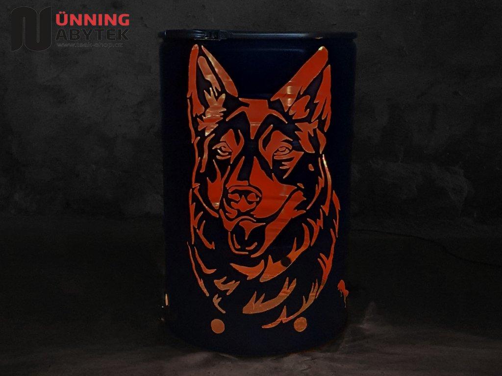 Feuertonne Hund