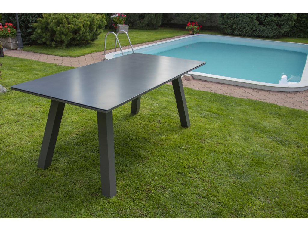Zahradní hliníkový stůl California antracit