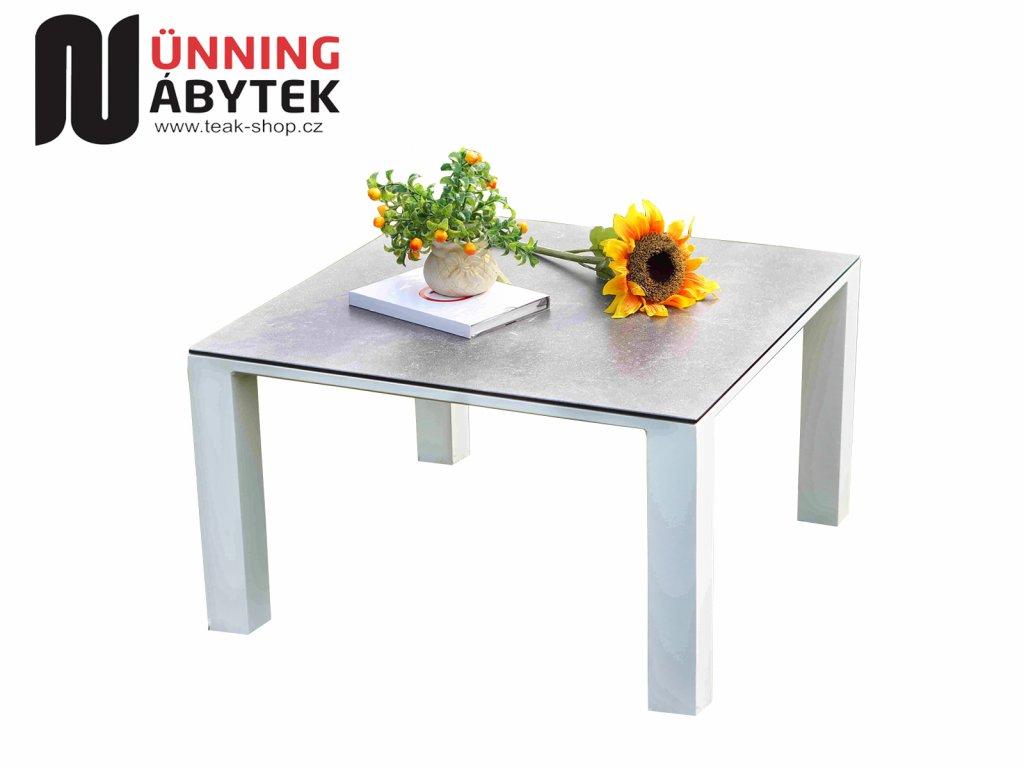 Zahradní hliníkový stolek Texas bílý