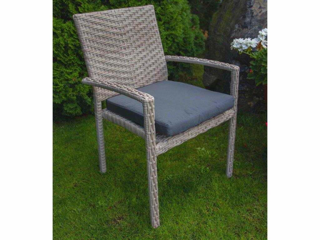 Umělý ratan zahradní židle