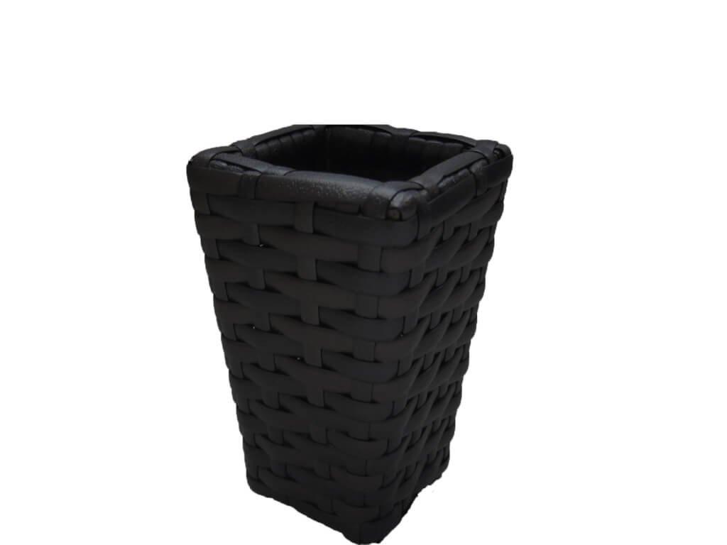 Umělý ratan Stojánek na ubrousky černý