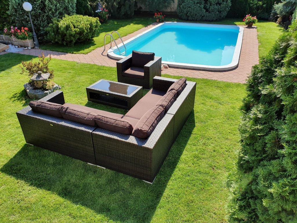 Náhradní potahy kolekce Garden Dream a Mallorca rohová chocco