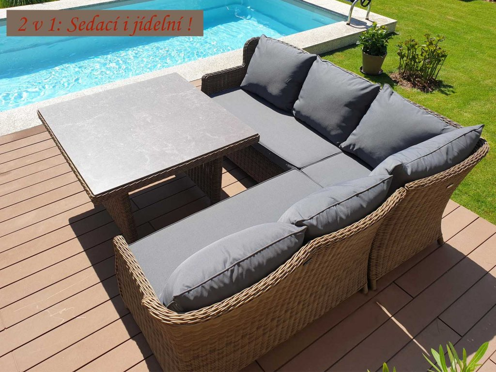 Umělý ratan zahradní sestava Bari Luxury