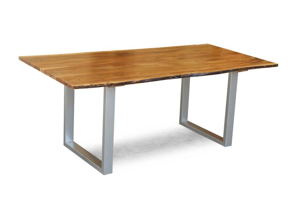 Jídelní stůl Akácie Masiv Natur 180x90 Silver