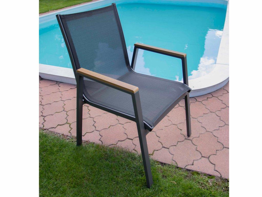 Zahradní hliníková židle