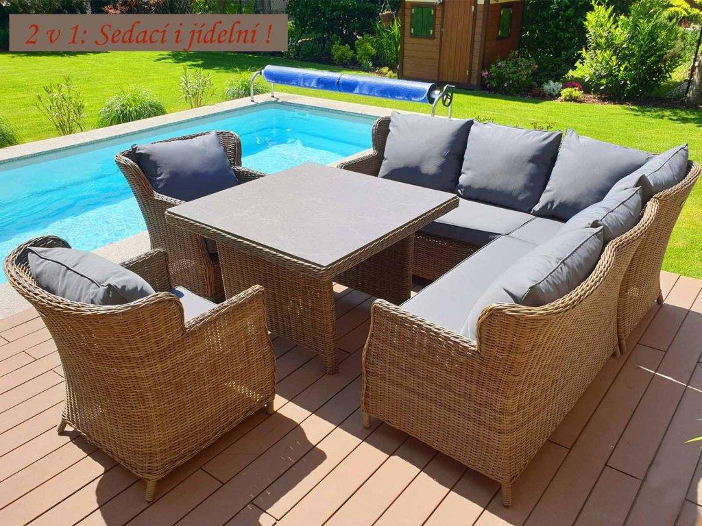 Umělý ratan zahradní sestava Bari XXL Luxury