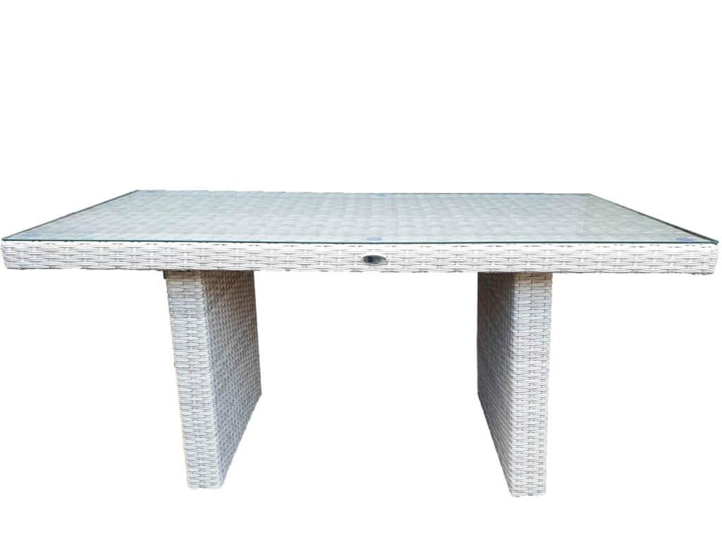 Umělý ratan Lounge stůl k sedacím setům latte