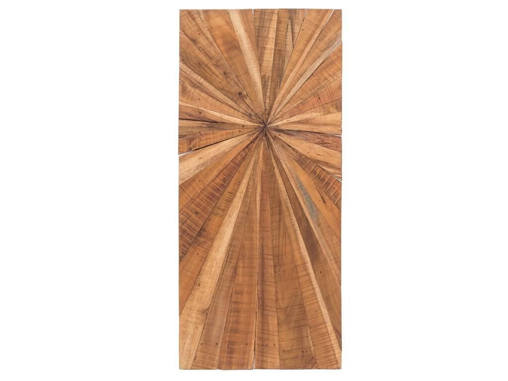 Dekorace dřevěná na zeď Long Teak