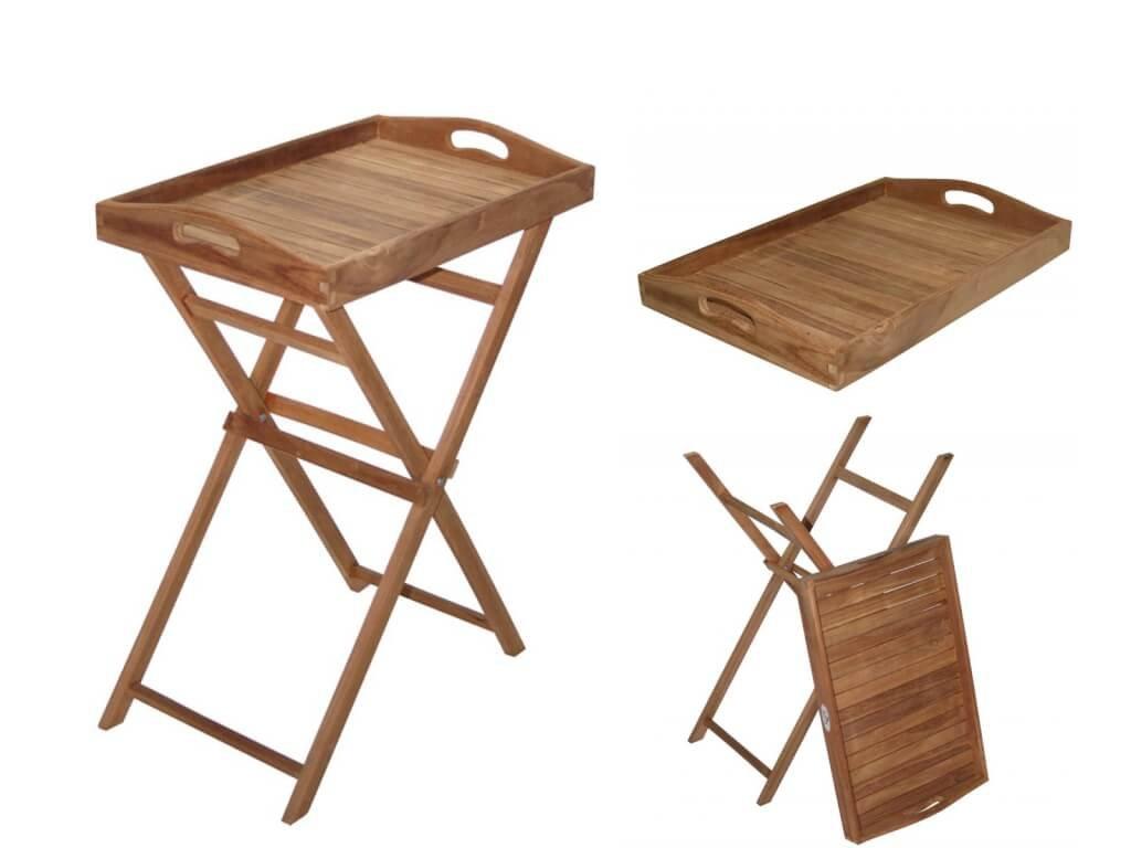 Zahradní servírovací stolek Teak Masiv