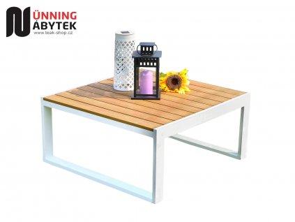 Zahradní hliníkový stolek Kansas bílý