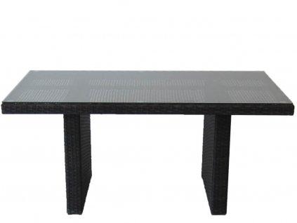 Umělý ratan Lounge stůl k sedacím setům mocca